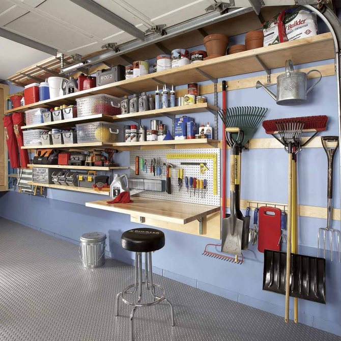 Каким должен быть интерьер удобного гаража каким должен быть интерьер удобного гаража