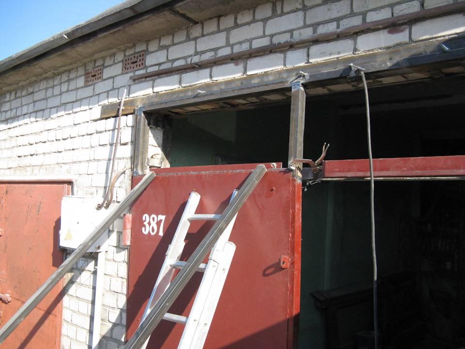 Как поднять гаражные ворота в кирпичном гараже - tagilmaster.ru