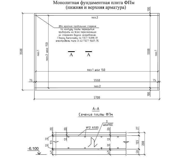 Плитный фундамент под гараж: этапы возведения