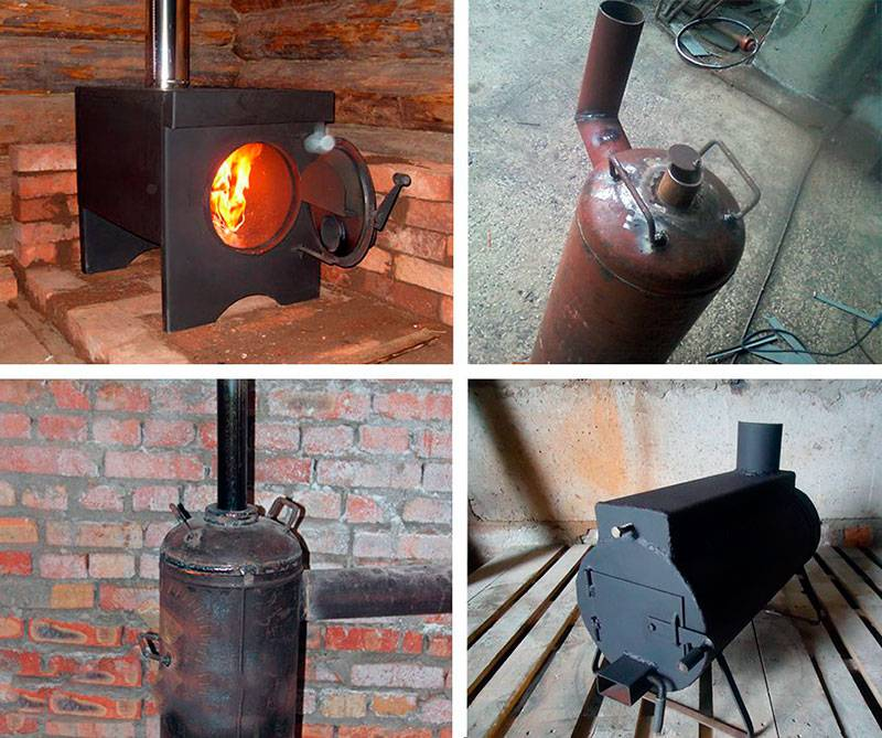 Печка (буржуйка) для гаража своими руками