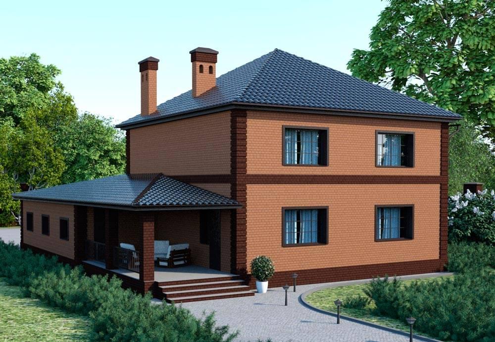 Планировка дома с гаражом: особенности встроенного и пристроенного гаража - 16 фото