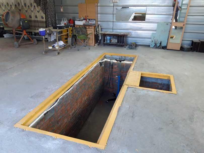 Как построить смотровую яму своими руками в гараже быстро и недорого?