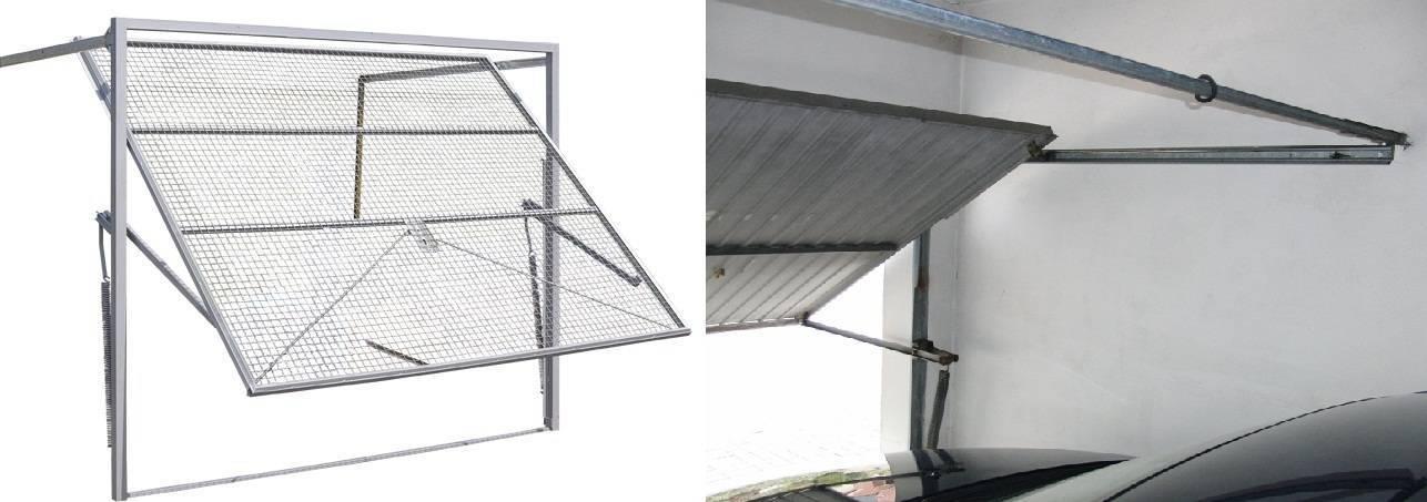 Как собрать подъемные ворота в гараж