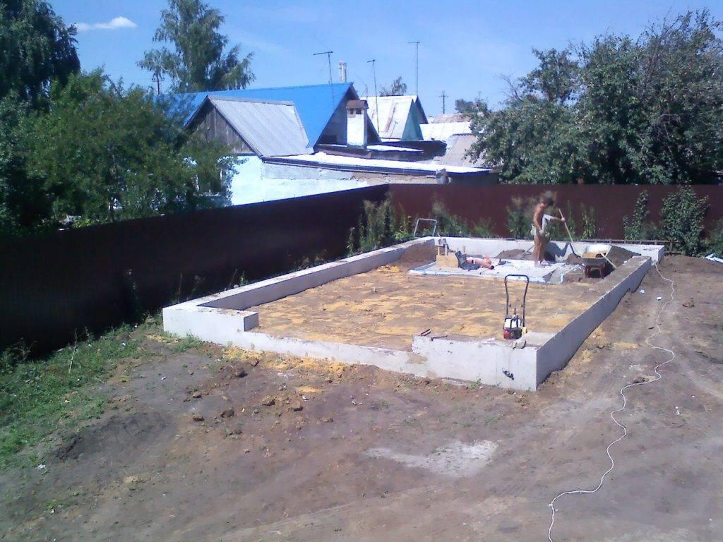 Фундамент под каркасный гараж своими руками