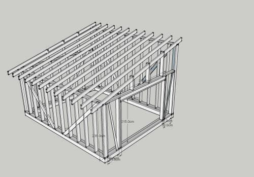 Строим каркасный гараж своими руками на даче быстро и недорого: инструкции +видео мастеров