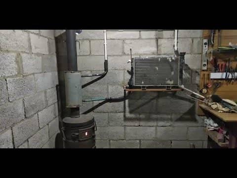 Печь для гаража с водяным контуром – устройство буржуйки, этапы конструирования, правила использования