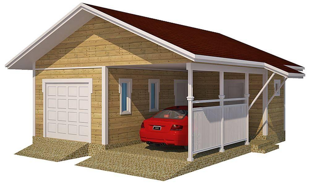 Гараж с навесом под одной крышей [47 фото], как сделать гаражный навес между домом и гаражом своими руками из поликарбоната, проекты гаражей для машины с навесом и хозблоком.