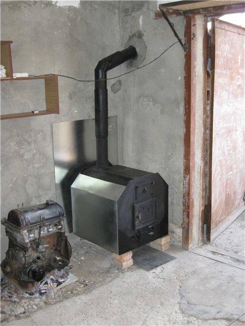 Печь в гараж с водяным контуром
