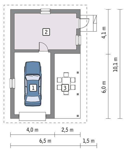 Готовые проекты гаражей с размерами и фото