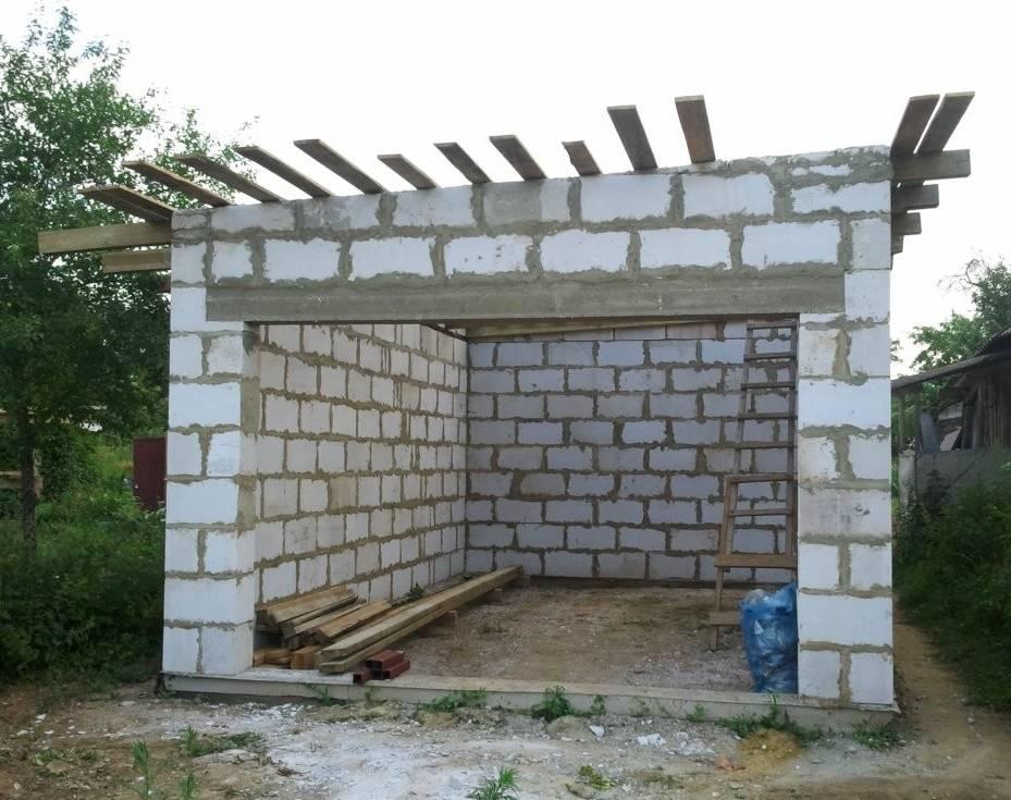 Сколько пеноблоков нужно для строительства гаража