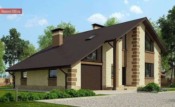 Проекты домов с гаражом под одной крышей: 70+ готовых надежных решений для загородной жизни
