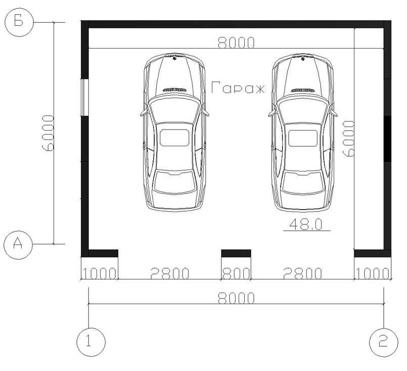 Гараж на 2 машины: особенности и правильное определение размера